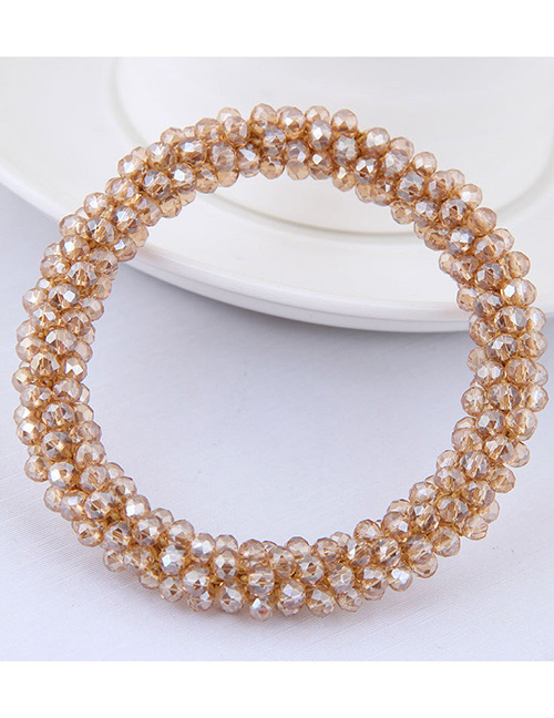 Fashion Champagne Pure Color Decorated Hair Band