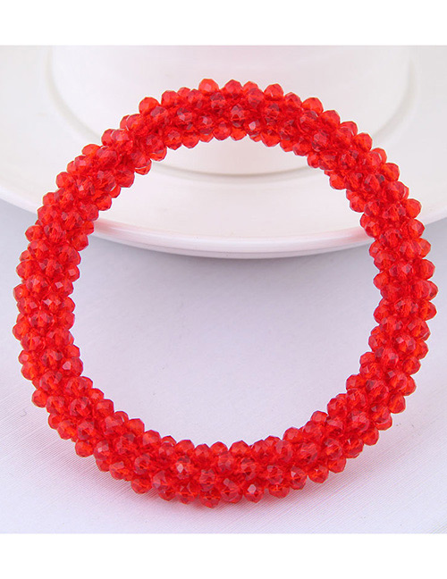Fashion Red Pure Color Decorated Hair Band