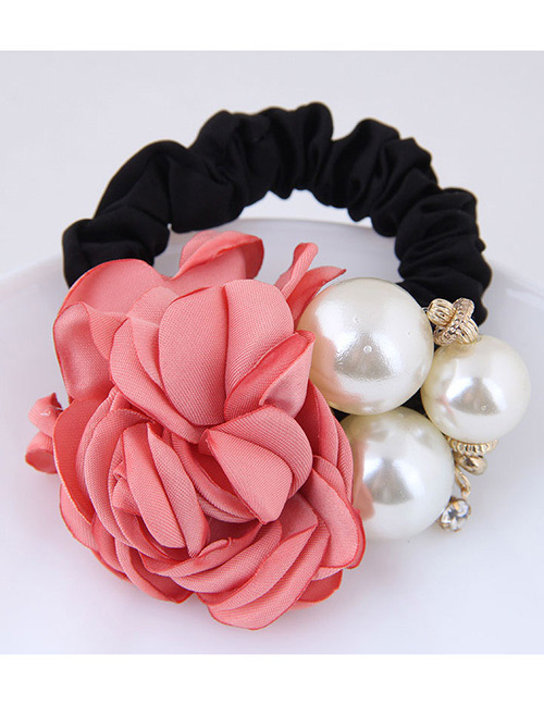 Fashion Pink+white Flower Shape Decorated Hair Band