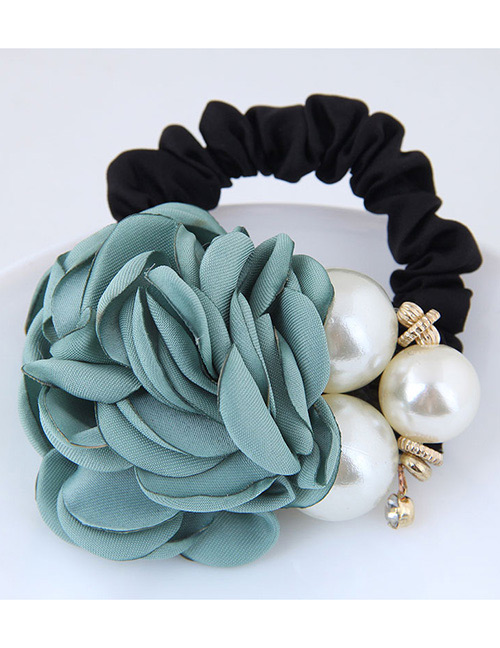 Fashion Blue+white Flower Shape Decorated Hair Band
