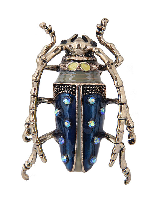Fashion Navy Insect Shape Design Simple Brooch