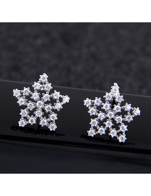 Sweet Silver Color Pure Color Design Hollow Out Earrings