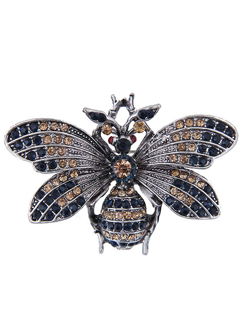 Elegant Black Full Diamond Design Butterfly Shape Brooch