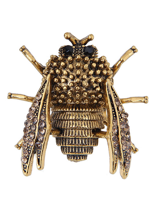 Elegant Gold Color Cicadidae Shape Design Simple Brooch