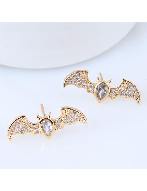 Fashion Gold Color Bat Shape Design Earrings