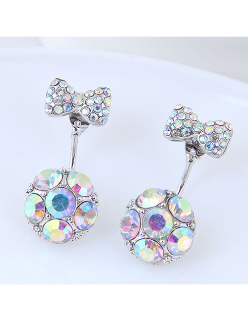Fashion Multi-color Bowknot Shape Decorated Earrings