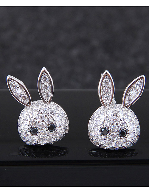Fashion White Rabbit Shape Decorated Earrings