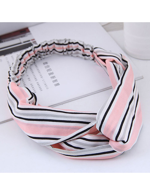 Fashion Pink Stripe Patterm Decorated Hairband