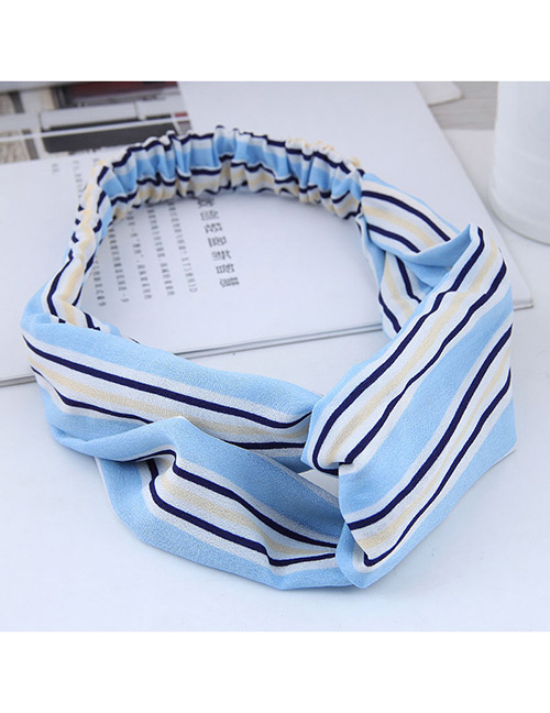 Fashion Blue Stripe Patterm Decorated Hairband