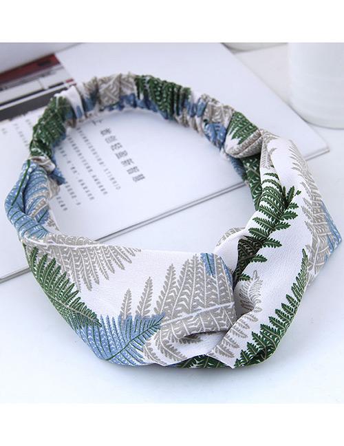 Fashion Green Leaf Pattern Decorated Hairband