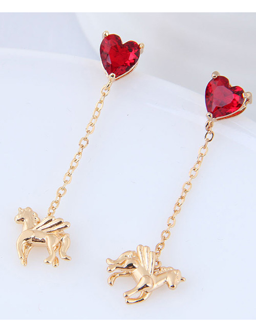 Fashion Gold Color Horse Shape Decorated Earrings