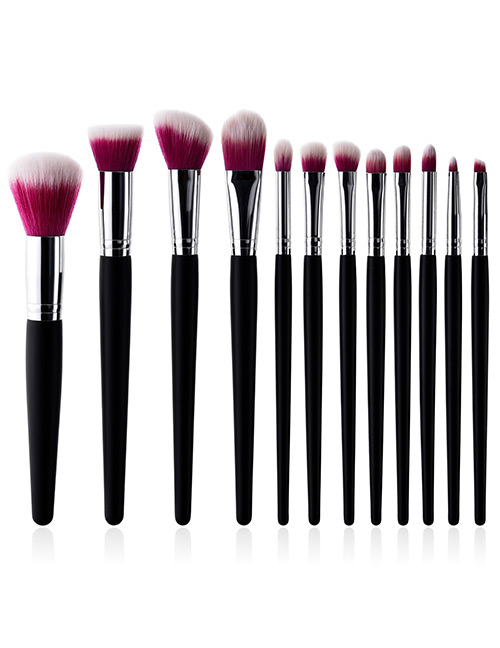 Fashion Red+white Color Matching Design Cosmetic Brush(12pcs)