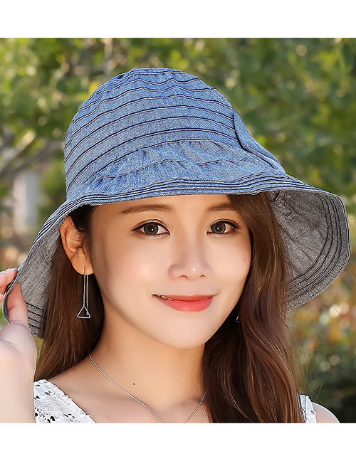 Fashion Navy Bowknot Design Anti-ultraviolet Hat