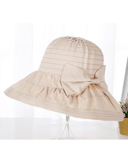 Fashion Beige Bowknot Design Anti-ultraviolet Hat