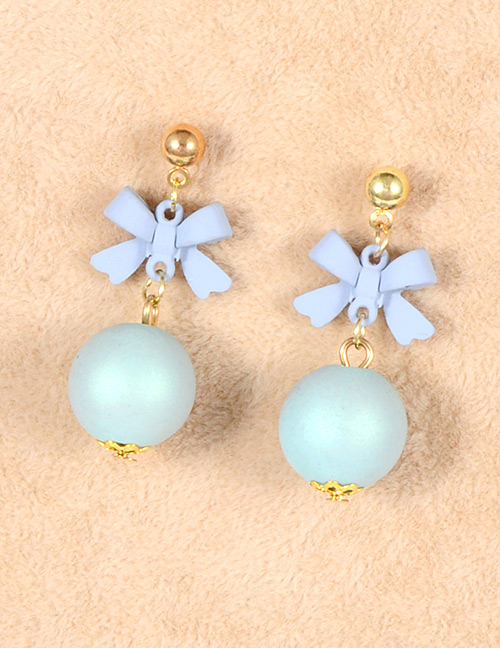 Fashion Gray Bowknot Decorated Simple Earrings