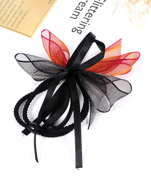 Fashion Multi-color Bowknot Decorated Double Layer Hair Band
