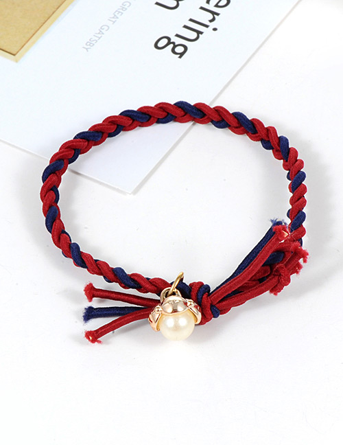 Fashion Red Pearls Decorated Simple Hair Band