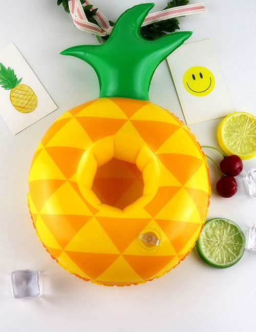 Fashion Yellow Pineapple Shape Decorated Cup Holder