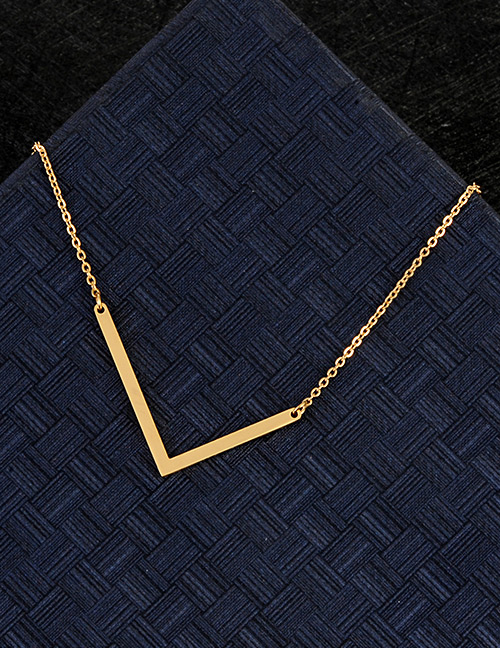 Fashion Gold Color L Letter Shape Decorated Necklace