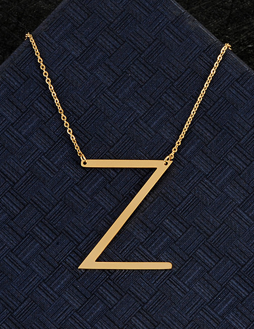 Fashion Silver Color Z Letter Shape Decorated Necklace