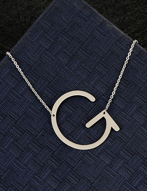 Fashion Silver Color G Letter Shape Decorated Necklace