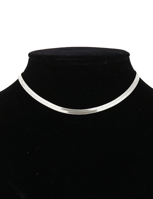 Fashion Silver Color Pure Color Decorated Choker