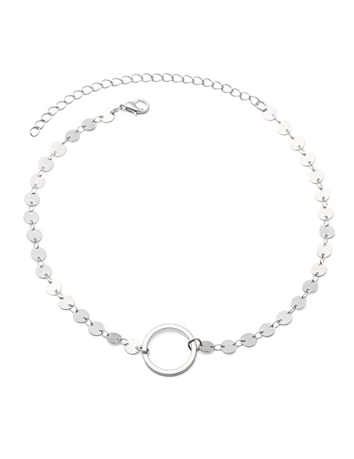 Fashion Silver Color Circular Ring Shape Decorated Arm Chain