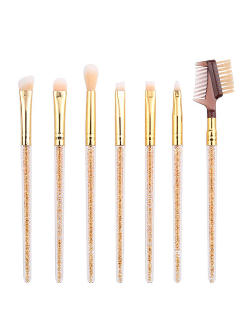 Fashion Gold Color Pure Color Decorated Makeup Brush ( 7 Pcs )