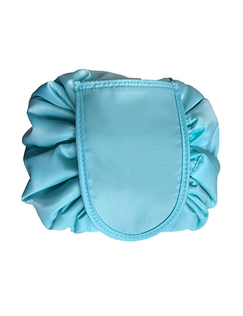 Fashion Light Blue Pure Color Decorated Storage Bag