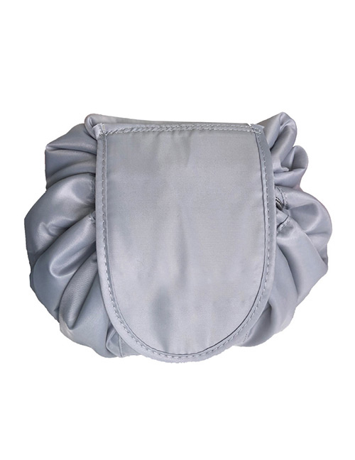 Fashion Gray Pure Color Decorated Storage Bag