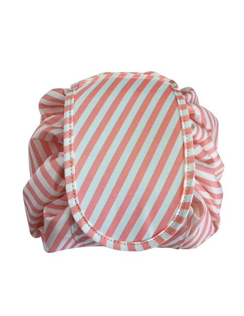 Fashion Pink+white Stripe Pattern Decorated Storage Bag