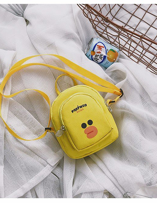 Fashion Yellow+black Pure Color Decorated Shoulder Bag