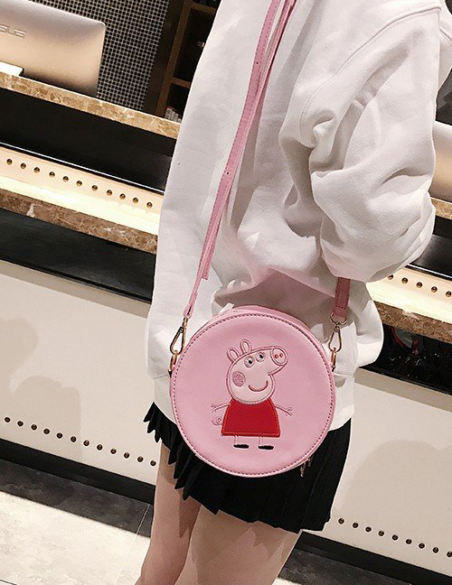 Fashion Pink Pig Pattern Decorated Shoulder Bag