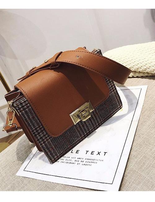 Fashion Gray Buckle Decorated Shoulder Bag