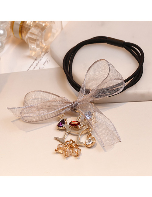 Lovely Gray Bowknot Decorated Double Layer Hair Band