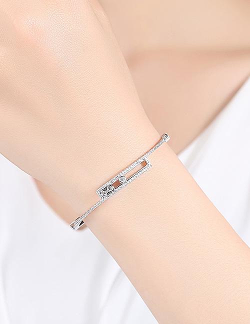 Fashion Silver Color Hollow Out Design Pure Color Bracelet