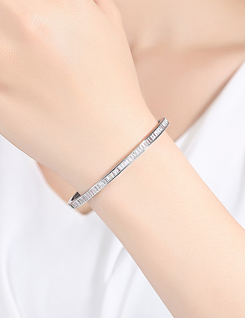 Fashion Silver Color Pure Color Decorated Simple Braclet