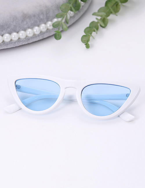 Fashion Blue Oval Shape Design Simple Sunglasses