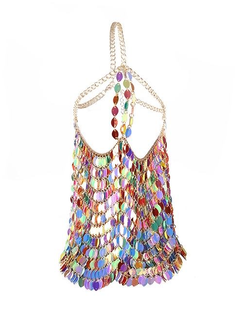 Fashion Gold Color Color Matching Decorated Body Chain