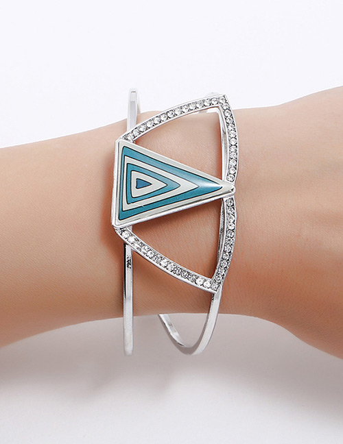 Fashion Silver Color Triangle Shape Decorated Bracelet