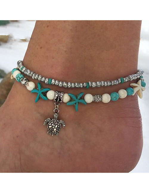 Fashion Silver Color Turtle Shape Decorated Ankle Chain