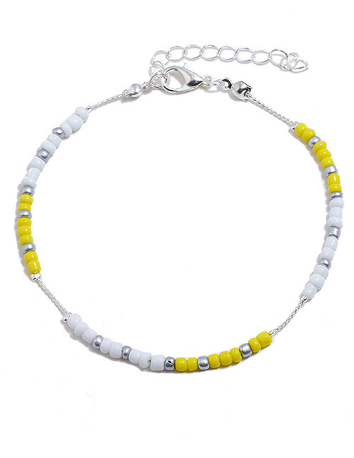 Fashion Yellow Color-matching Decorated Ankle Chain