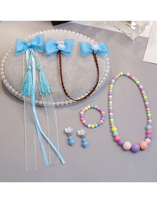 Lovely Blue Rabbits Decorated Child Jewelry Sets