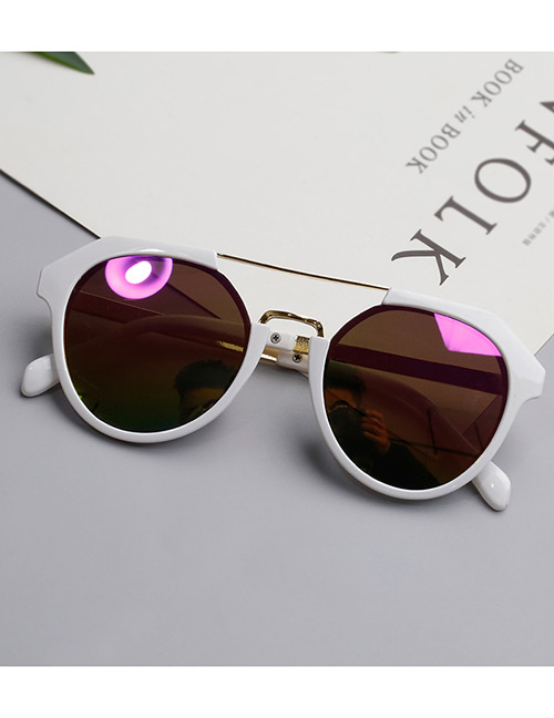 Lovely White Round Shape Design Child Ultraviolet Glasses(1-3years Old)