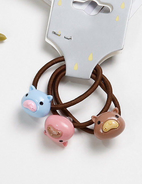 Lovely Pink+blue Mole Shape Decorated Baby's Hair Band(3pcs)