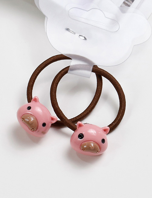 Lovely Pink Mole Shape Decorated Baby's Hair Band(2pcs)