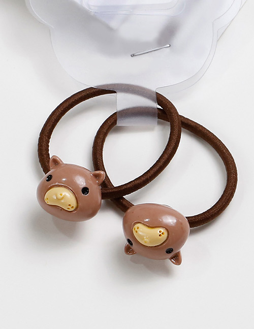 Lovely Brown Mole Shape Decorated Baby's Hair Band(2pcs)