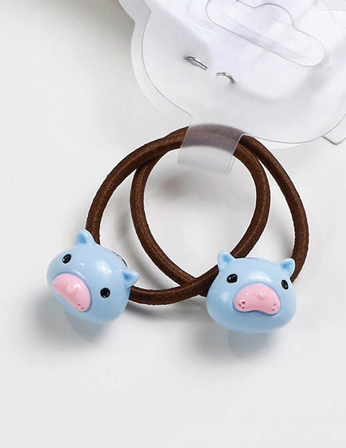 Lovely Blue Mole Shape Decorated Baby's Hair Band(2pcs)