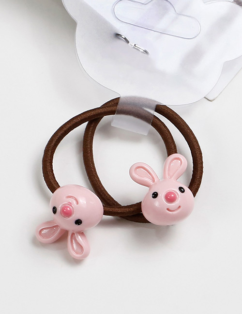 Lovely Pink Rabbit Shape Decorated Baby's Hair Band(2pcs)