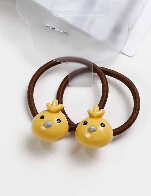 Lovely Yellow Bird Shape Decorated Baby's Hair Band(2pcs)